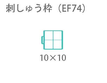写真:ブラザー 「刺しゅう枠M(EF74)」(刺しゅうミシン)