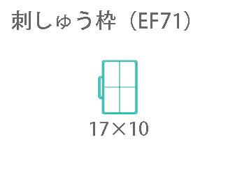 写真:ブラザー 「刺しゅう枠L(EF71)」(刺しゅうミシン)