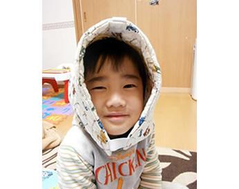 ミシンで作った防災頭巾