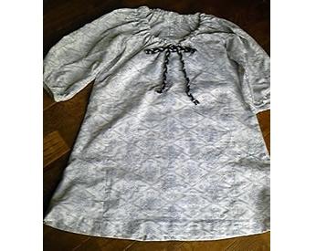 浴衣の反物で作ったスモックTシャツ