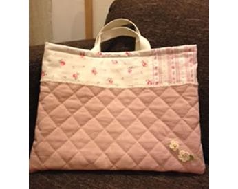 娘の入園準備に作ったキルティングのてさげバッグ