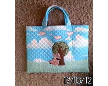 青空プリントの通園バッグ
