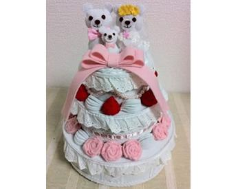 ミシンで作ったウエディングケーキ♪