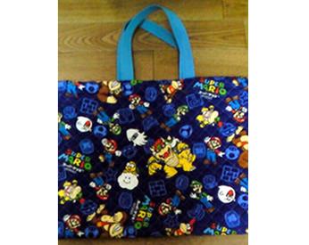マリオの生地で作った手提げバッグ