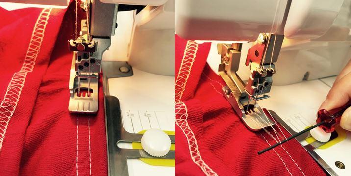 縫目を重ねたら針を落とし押さえを上げます.JPG